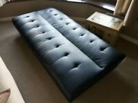 FOLD DOWN FAUX LEATHER DAY BED/ COUCH