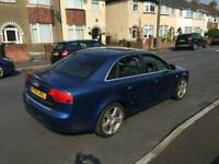 Audi A4 140 bhp S Line 6 speed in stunning blue , ,1st to view will buy ,px welcome