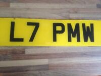 PRIVATE NUMBER PLATE FOR SALE!! L7 PMW