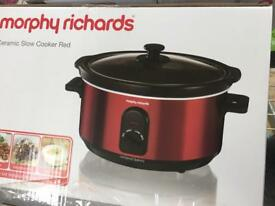 Brand new in box. Morphy Richards slow cooker. Red