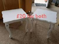 2 white side tables free delivery in leicester