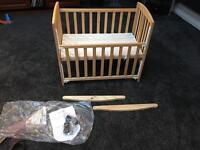 Wooden co sleeper , baby cot