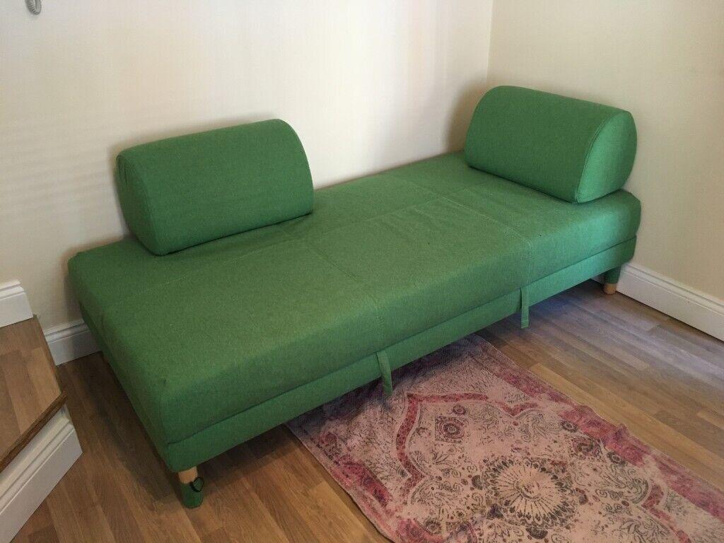 Ikea Flottebo Sofa Bed Green With Storage Good Quality Item Like