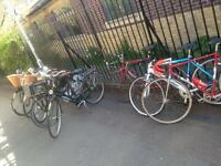 Range of genuine Dutch bikes and gents racing bikes serviced with warranty and lock and lights.