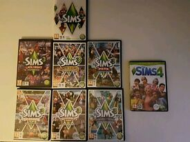 The Sims 3 and 6 expansions and the Sims 4