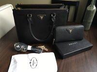 Prada bag and purse