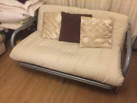 Metal framed sofa bed 190x148cm with futon