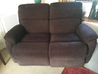 Two seater reclining sofa electric