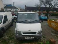 Ford transit pick up twin rear wheel