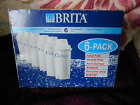 BN PACK OF 6 BRITA CLASSIC WATER FILTERS