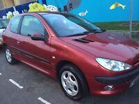 Peugeot 206 Red 1.4 3-dr 12 Months MOT £495