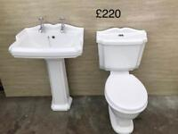 Victorian basin and toilet