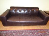 Leather sofas 3 + 2 - three seater and two seater