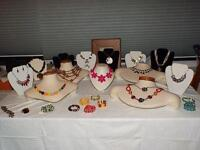jewellery job lot and display materIal ,costume fashion jewellery