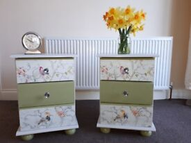 Pair of Upcycled Bedside Drawers