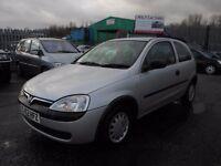 2002 (52 Reg) Vauxhall Corsa 1.2 i 16v Club 3dr Hatchback £595 MOT'D 21/12/16 & 3 MONTHS WARRANTY