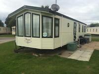 Caravan for hire, on Presthaven beach resort