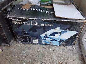Wickes wet tile saw used working condition