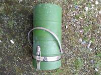 Green military food flask