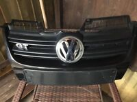 mk 5 vw golf genuine front grill and badges