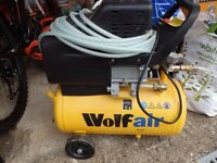 WOLF AIR oil lubricated air compressor: 2HP AIR COMPRESSOR WOLF SIOUX:NEW AND UNUSED