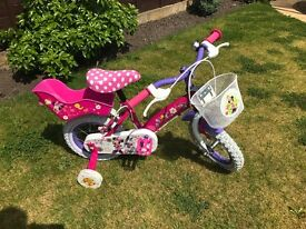 "Minnie Mouse Bowtique 12"" Bike - Excellent Condition"