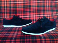 Mens Leather Suede Casual Shoes Lace Up Trainer,shoes Plimsolls in size 10