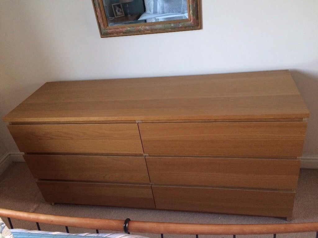 Chest of Drawers (6 drawers) and matching Bedside Drawers (2 drawersin Aspley, NottinghamshireGumtree - Chest of drawers with 6 good size drawers. Very sturdy and in lovely condition. W 160 x H 77 x D 48. Also matching bedside drawers (2 drawers) again very sturdy and lovely condition. W 40 x H 55 x D 48 Both items would be equally useful used in a...