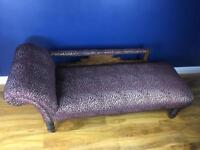 Edwardian Chaise Longue. Clark & Clark fabric
