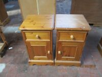 Two Pine Bedside Cabinets