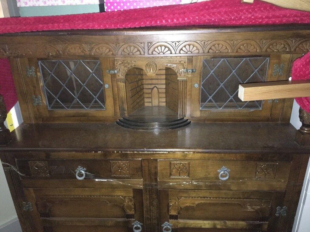 Cabinet Dining Room Drinks Display Living Dresser Vintage
