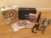 Black Wii Console With Dance mat & 4 Games -Boxed £30 no offers