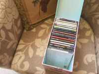 Collection of CDs and Box