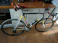Vintage look reynolds steel dawes road bike