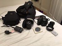 Canon 650D Rebel T4i + 18-55mm IS Lens + 40mm f2.8 Pancake Lens + Cases + Extras
