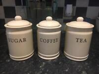 Vintage style sugar tea and coffee set