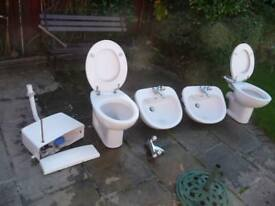 Bathroom sinks, toilets and cisterns, and taps for sale