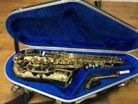 Selmer Super Action 80 Series ii Alto saxophone, gold lacquer engraved, in Hiscox flightcase