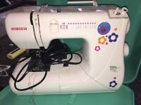 WIMSEW as new professional and expensive brand for sewing machine as new one year old