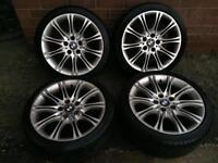 "BMW 18 "" MV2 ALLOY WHEELS 1 3 5 SERIES Z4"