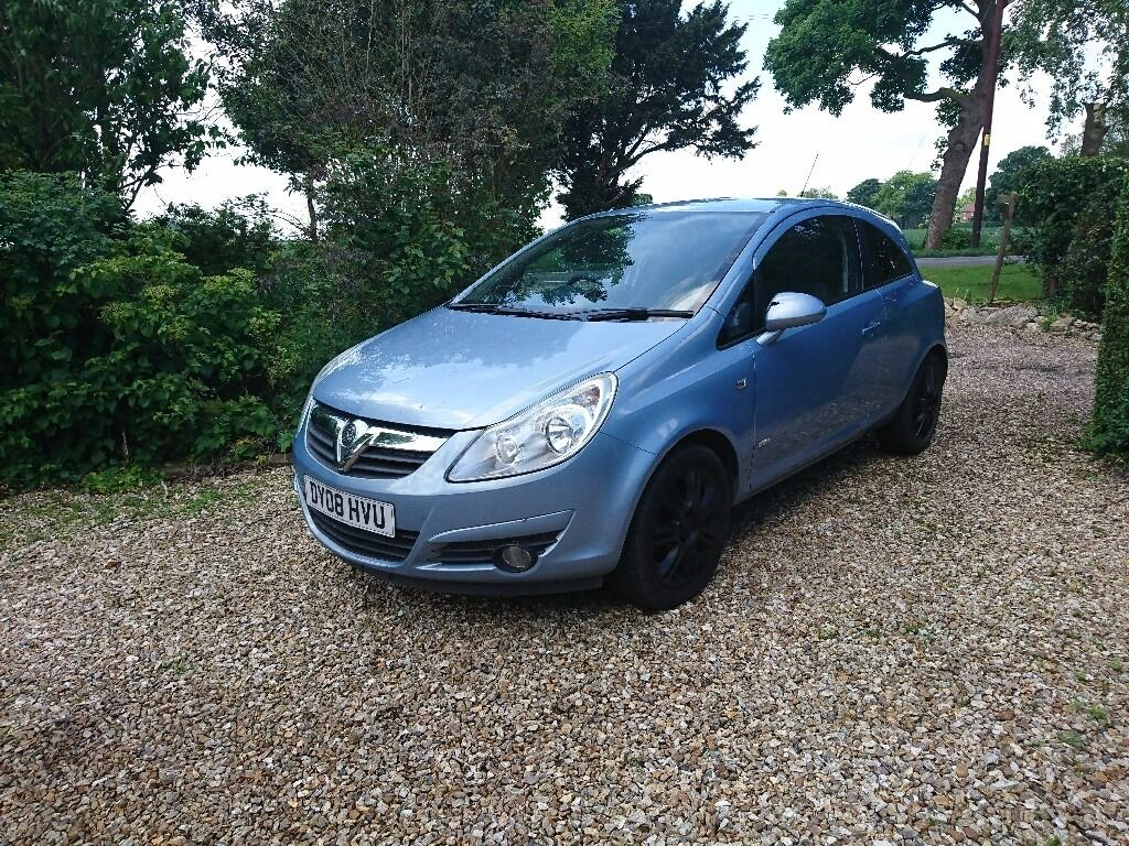 2008 vauxhall corsa d 1 2 design long mot 3 door blue in boston lincolnshire gumtree. Black Bedroom Furniture Sets. Home Design Ideas