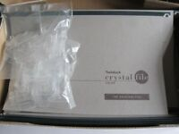 30 GREY CRYSTALFILE SUSPENSION FILES C/W TABS AND INSERTS - NEW