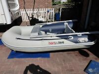 honawave2,5 mtrs rib type fast inflatable boat . yamaha 6 hp 4 stroke . in excellant condition