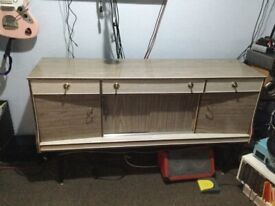Retro vintage sideboard with drinks cabinet