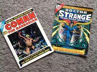 Doctor Strange and Conan Treasury Editions 1975
