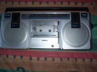 Vintage Philips AM/LW/FM Compact Line D8117 Radio Cassette Player with Piezo Tweeter