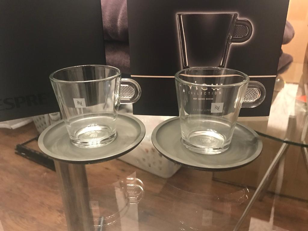 Nespresso View 4 X Lungo Cups Amp Saucers New In Boxes