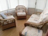 4 Piece Conservatory Cane Furniture, Very good condition.