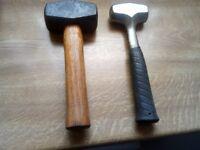 lump hammer x 2 2lb + 4lb