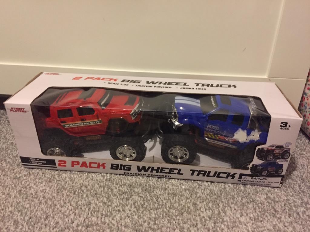 2 pack Big Wheel Trucks ~ New in Box